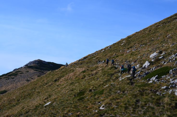 Huck Finn team hiking in Paklenica National Park at our end of the season team building week