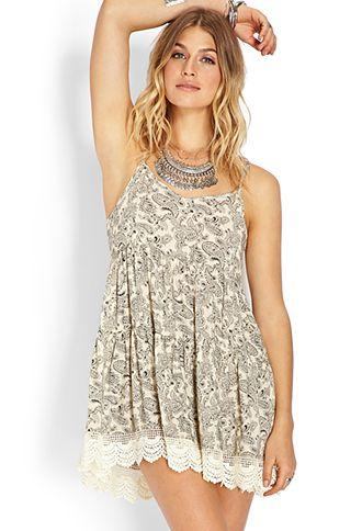 Desert Paisley Smock Dress | FOREVER21 - 2000107129