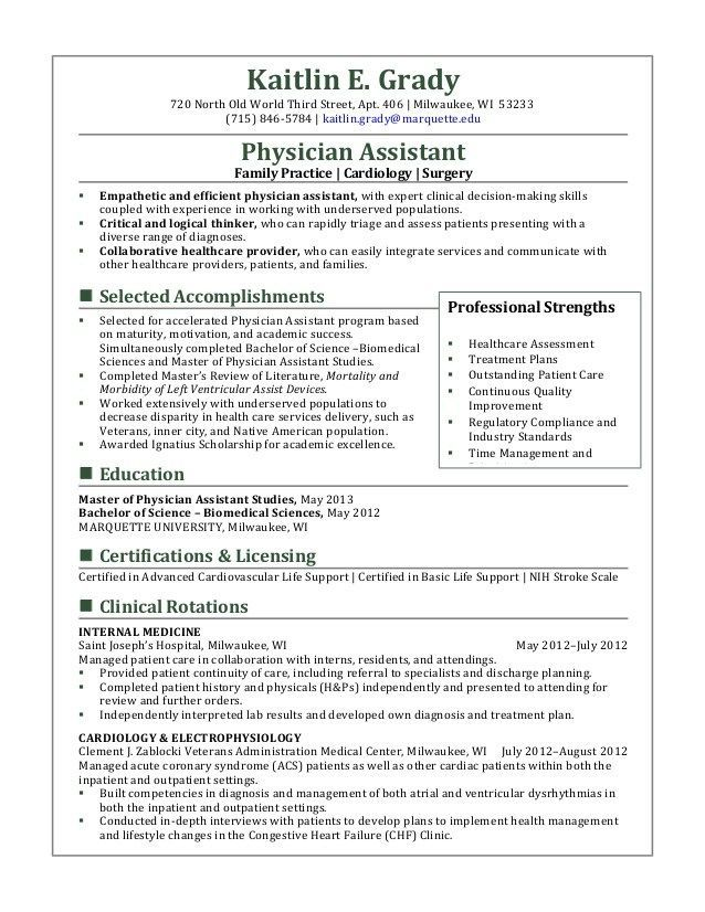 Physician Assistant Resume Curriculum Vitae And Cover Letter Samples The Physician Assistant Life Medical Assistant Resume Physician Assistant Student Student Resume