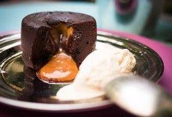 Como fazer Petit Gâteau com caramelo salgado