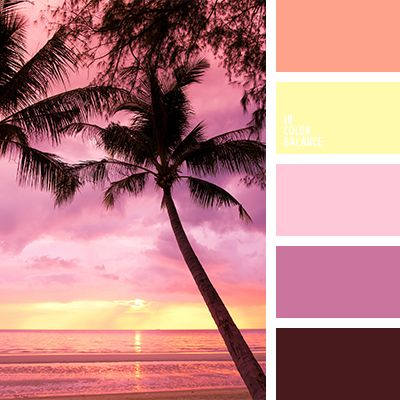 Beautiful shades of perfect evening. Pink, purple, yellow and other colors of sunset.