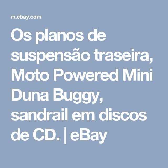 Os planos de suspensão traseira, Moto Powered Mini Duna Buggy, sandrail em discos de CD.  | eBay