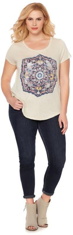Lucky Brand Temple Mandala Tee - Plus