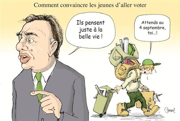 Caricature du jour - Mardi 14 août 2012 (© Pascal Elie)