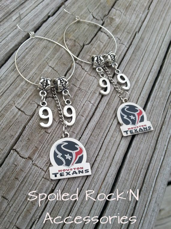 Houston Texans Earrings, JJ Watt Earrings, Licensed NFL Earrings, Texans Earrings, Houston Texans, NFL Earrings, Football Earrings, Jj Watt