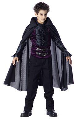 vampire costumes for kids Kids Gothic Vampire Costume - Black
