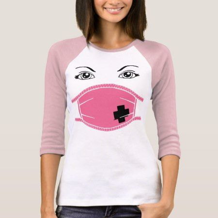 Pink Medical Mask Graphic T-Shirt - tap, personalize, buy right now!