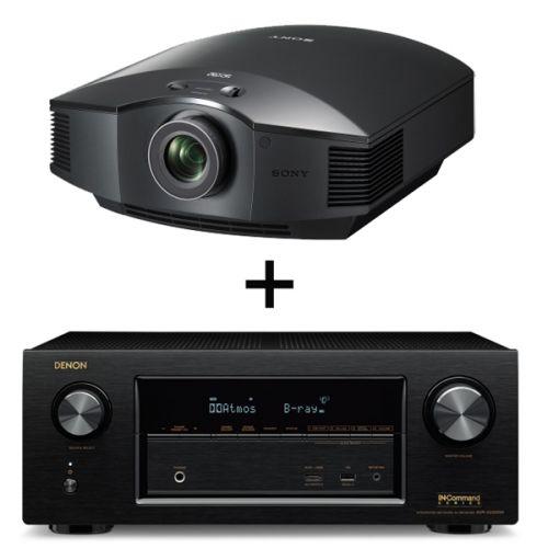 CONJUNTO DE RECEPTOR A/V AVR2300 DE DENON + VIDEOPROYECTOR HW65 DE SONY. Receptor A/V en red de 7 x 150 W Full 4K Ultra HD con Wi-Fi, Bluetooth y un avanzado procesador de vídeo. El VPL-HW65ES encaja perfectamente en cualquier cine en casa o sala de estar; además, cuenta con un ventilador muy silencioso que no molesta durante la reproducción y un puerto de ventilación frontal para una mayor versatilidad de instalación. #receptor #Denon #videoproyector #Sony