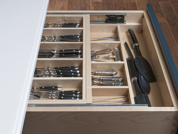 Two-Tier Cutlery Divider | Wood-Mode | Fine Custom Cabinetry