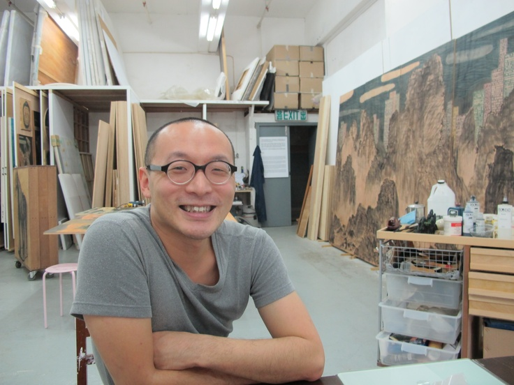 Lam Tung-pang in his studio (photo: Luise Guest)
