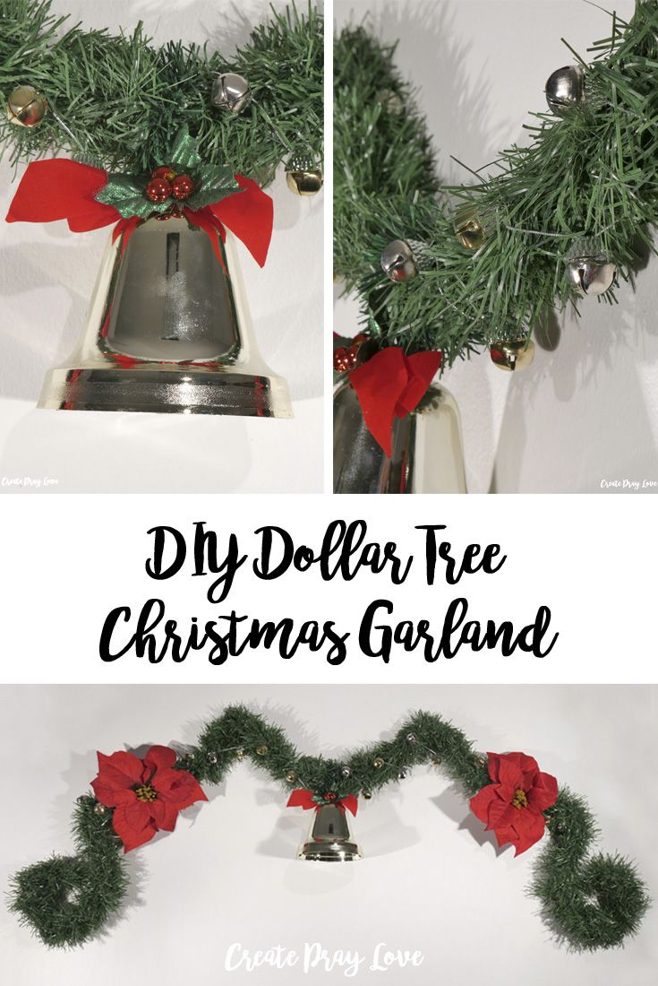 Diy Dollar Tree Christmas Garland Dollar Tree Christmas