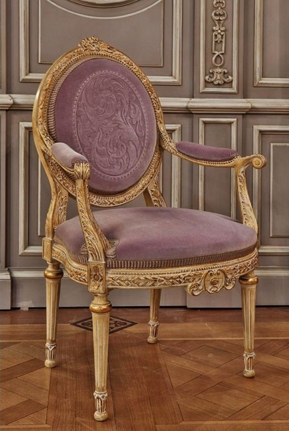 opulent thistle velvet French Chair with gold finish ...