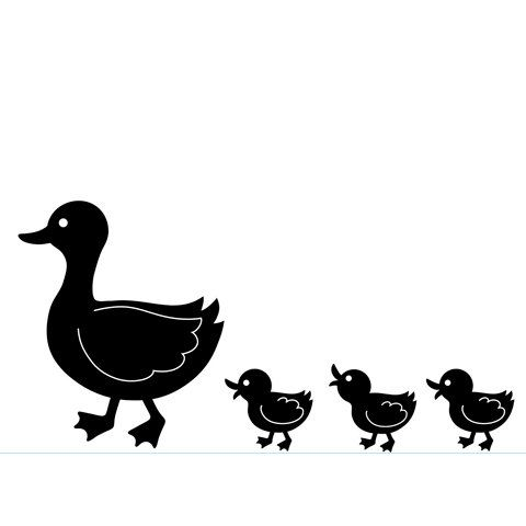 DUCK Family - MOTHER and BABY DUCKLINGs EMBOSsING FoLDeR - A2 by Darice - NeW - JuST ARRIVeD