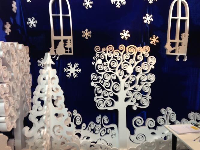 Новогодние декорации, выставка