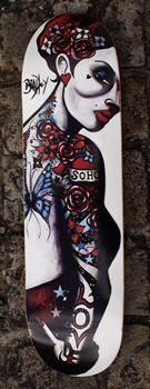 Limited Editions - Terry Bradley - Soho Love Skateboard (Signed)