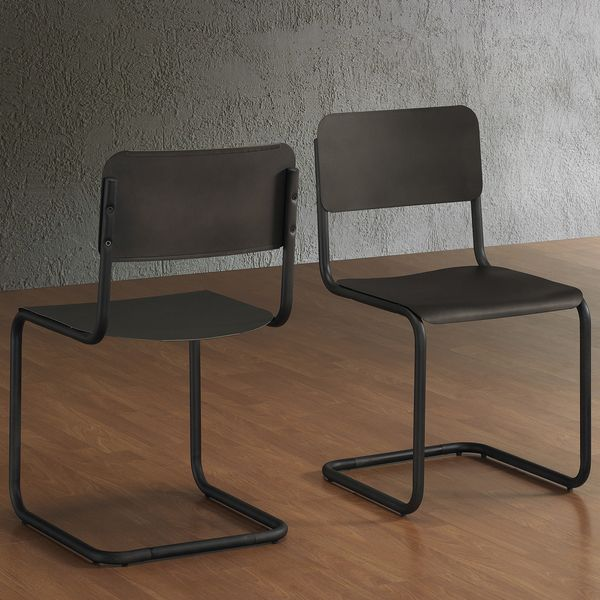 Emerson Metal Dark Brown Retro Dining Chairs (Set of 2) - Overstock™ Shopping - Great Deals on Dining Chairs