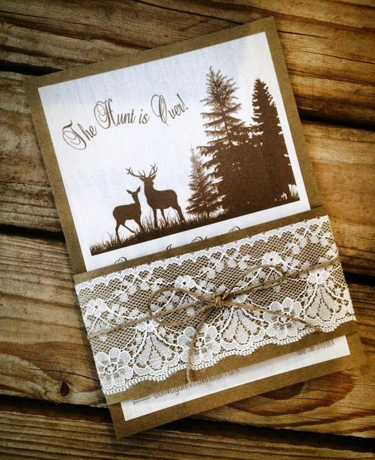"Rustic Woodland Theme ""The Hunt Is Over"" Wedding ..."