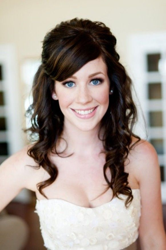 Cute Wedding Hairstyle  ♥ Natural Wavy Wedding Hair