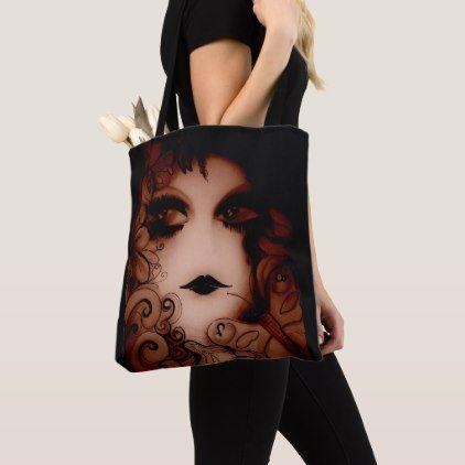 smokey wood nymph dusky brown earthy tones wood tote bag - wood gifts ideas diy cyo natural