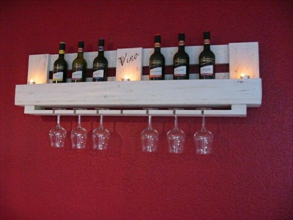 Euro pallet furniture great shelf for wine