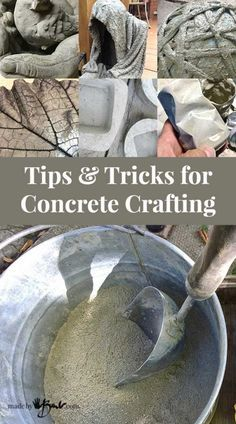 Tips for concrete crafting