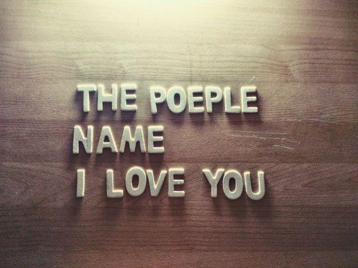 the poeple name i love you
