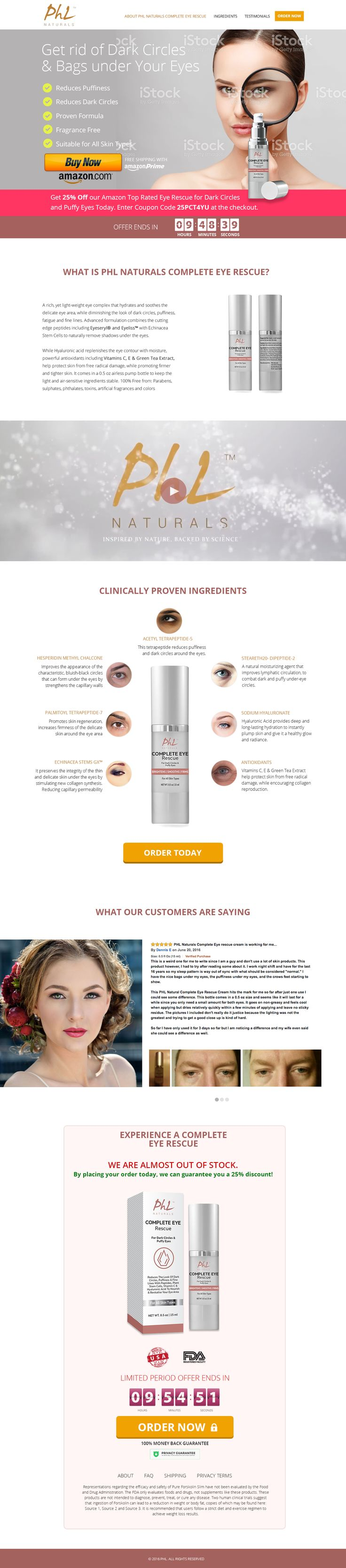 Get 25% Off our Amazon Top Rated Eye Cream Today. #eyecream  Use this link with discount code  25PCT4YU