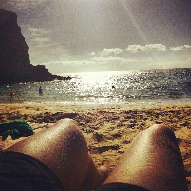 Playa de Papagayo en Playa Blanca, Canarias
