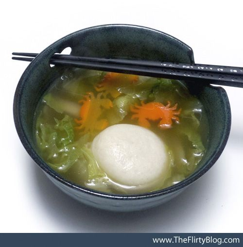 Japanese New Years tradition Ozoni Mochi Soup made Vegan