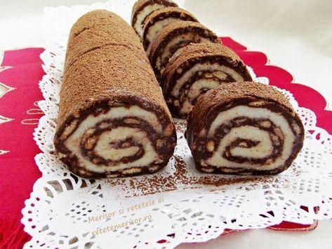 Este minunata aceasta rulada de biscuiti cu mascarpone si nuca de cocos si de mare efect! Simplu de preparat si cu ingrediente putine.