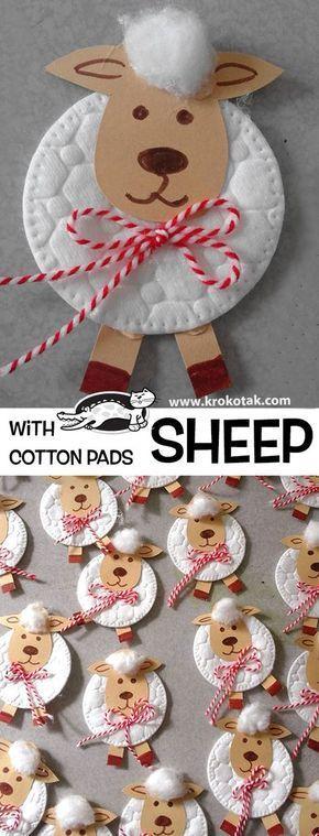 Eine Idee, wenn Sie #Schaf #basteln machen wollen. Aktivitäten für Kinder, mehr als
