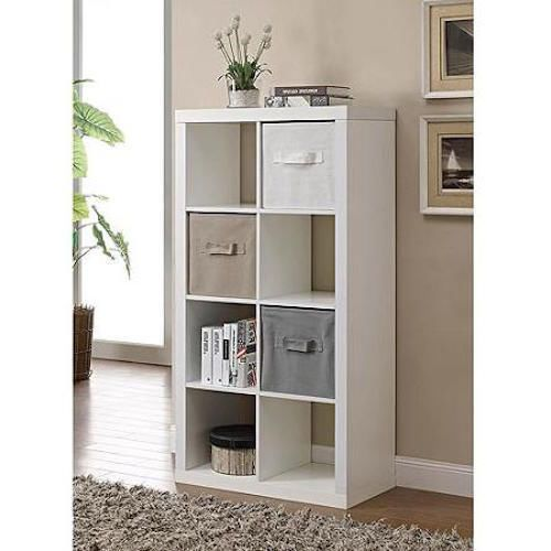 Home Book Case Organizer 8 Cube Square Storage Unit Wood Rack Shelves Home New #8CubeBookcase #Modern