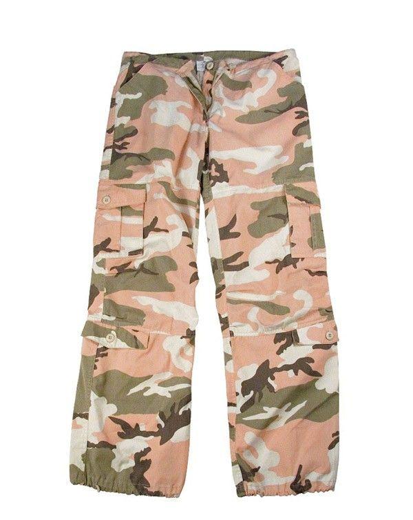 Rothco Damer paratrooperbyxor Rosa kamouflage