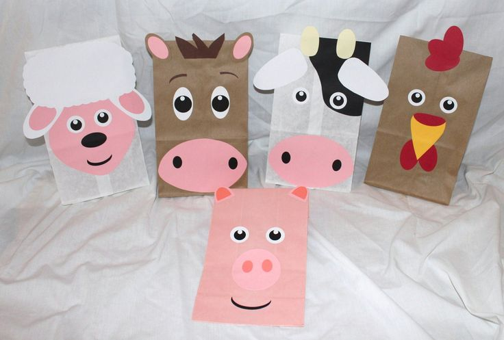 Farm Barnyard Animal Party Favors Kids Birthday Favor Treat Goodie Goody Bags. $13.99, via Etsy.