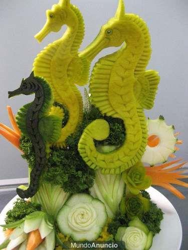Tallado de frutas y verduras arte en la comida pinterest