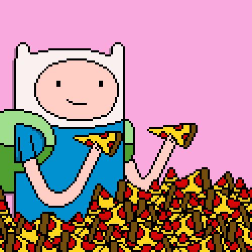 Adventure Time / Pizza