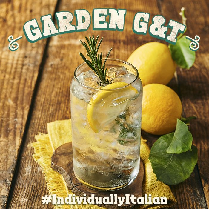 Bombay Sapphire & tonic with an elderflower liqueur, lemon & rosemary twist. #IndividuallyItalian