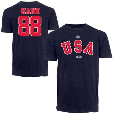 Old Time Hockey Patrick Kane USA Hockey 2014 Sochi Olympics T-Shirt - Navy Blue