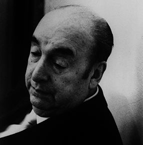 """BASIC (grade 7): A link to the biography of Pablo Neruda, author of """"Ode to a Pair of Socks."""""""