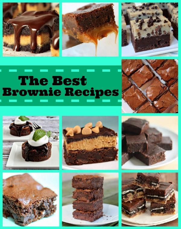 10 of the Best Brownie Recipes... all in one place.