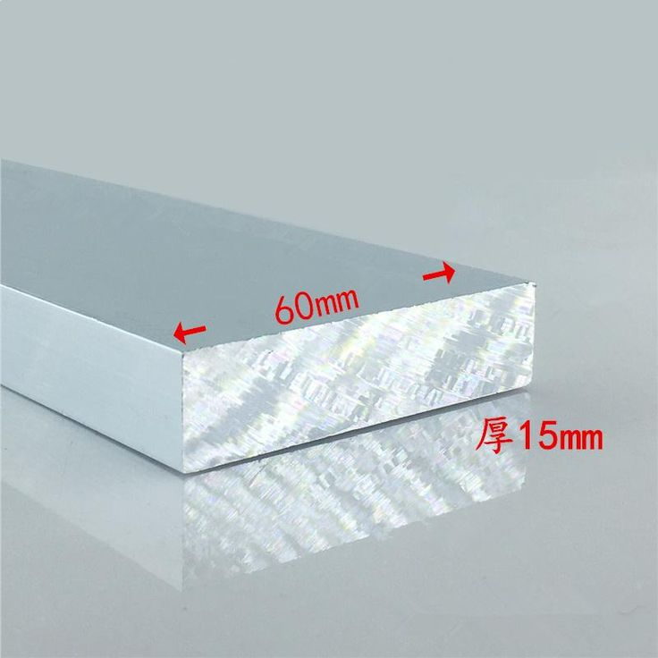 Aluminium alloy plate 15mmx60mm article aluminum 6063-T5 oxidation width 60mm thickness 15mm length 1000mm 1pcs