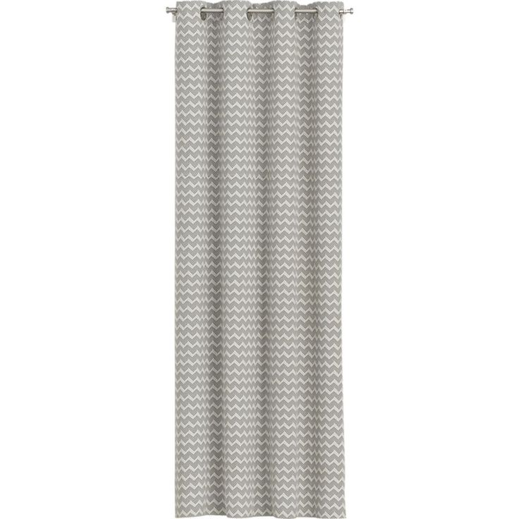 Reilly Grey Chevron Curtains  | Crate and Barrel