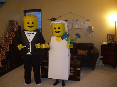 Couples costumes we love - Could easily add some Lego children !