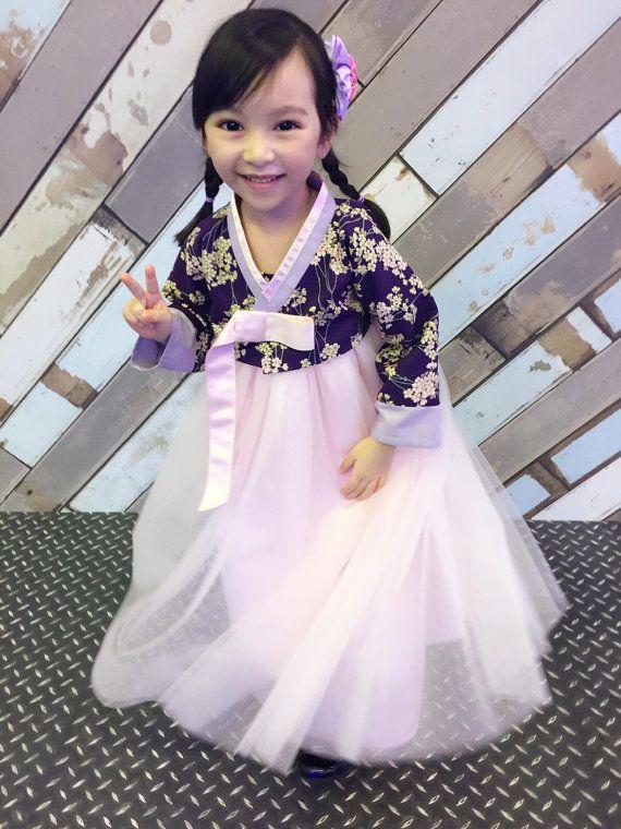 Hanbok per giri bambino coreano tradizionale abito da sposa