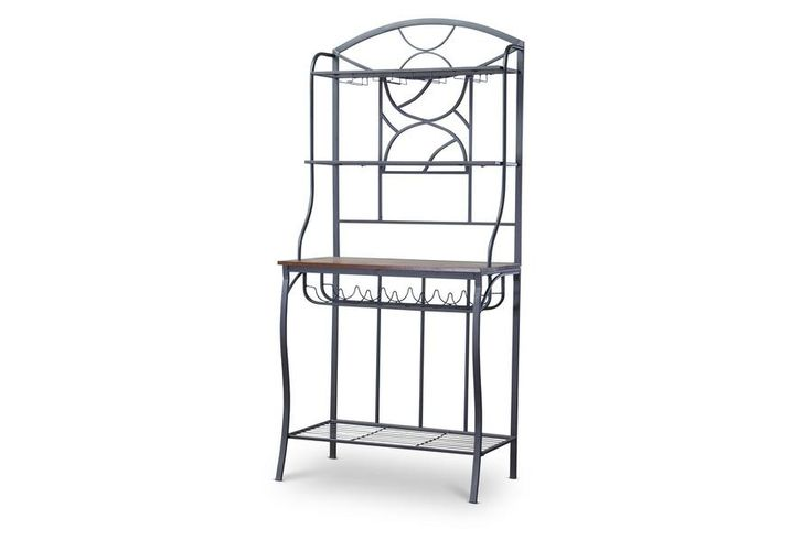 Corsica Wood and Metal Transitional Baker's Rack WL-0471-WI