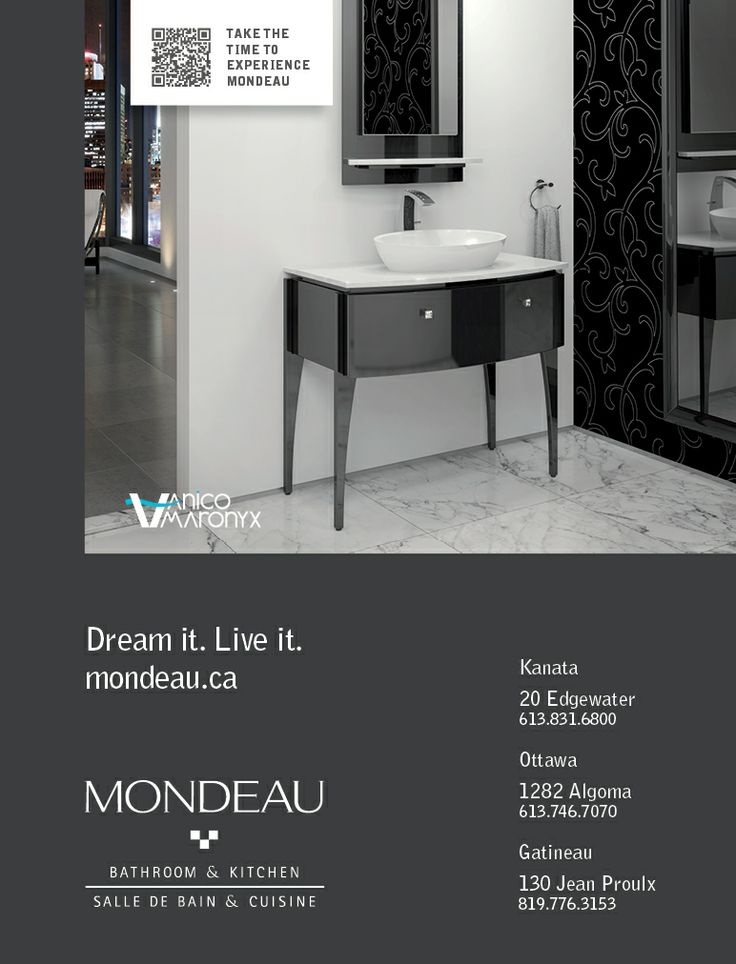 From the Elegancia Collection. Both Classic & Modern. Available wallmount or on legs.