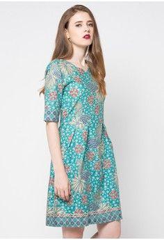 Dress Kelyn from Rianty Batik in green