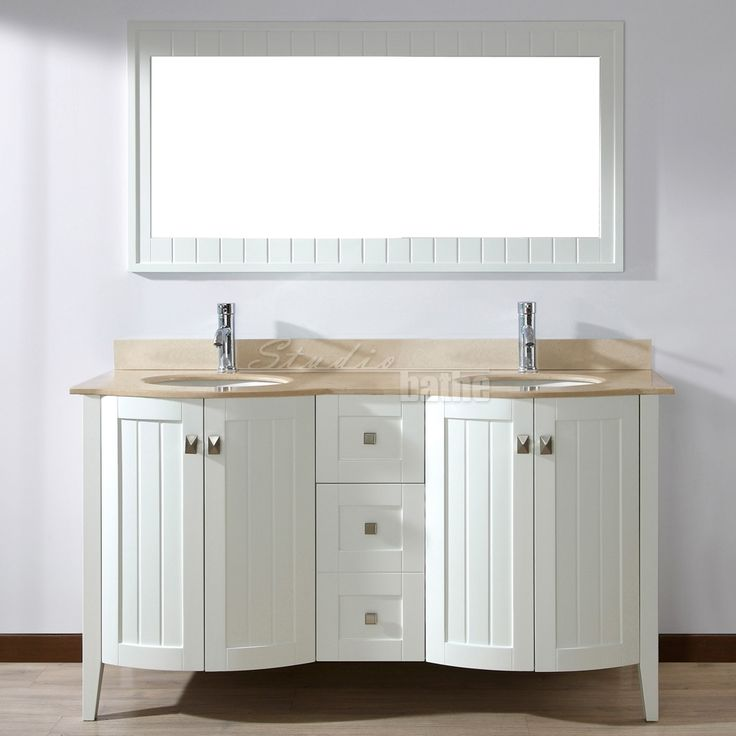 The Bridgeport 60 Inch White Double Bathroom Vanity Is A Vanity That Takes  You Back To