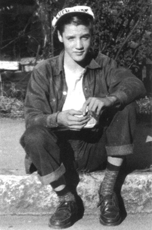 {*A Cute young Elvis :) not knowing how in a short time his life would change forever, Wow, You were & are the Greatest Ever*}
