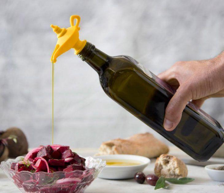 Dispensador de aceite en forma de lampara maravillosa